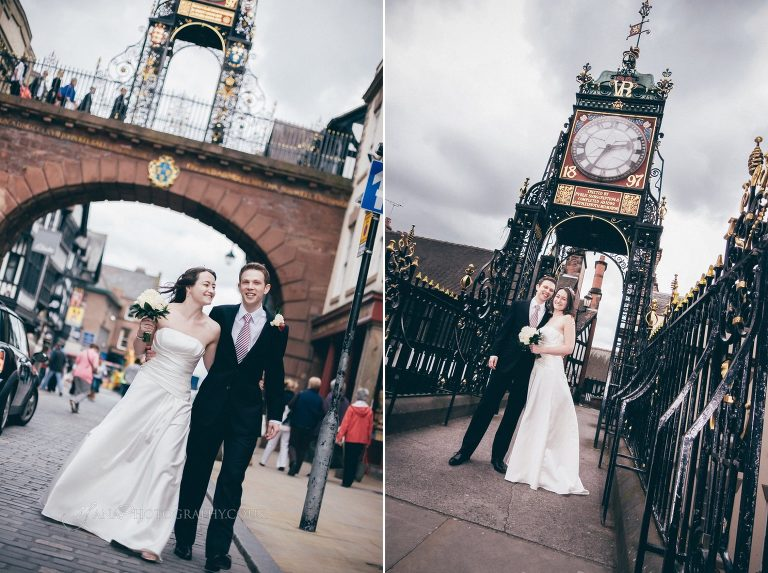Chester City Centre wedding photography