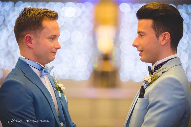 wedding two grooms in Cheshire, North West