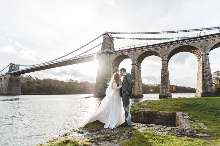 North Wales wedding photographer Menai Bridge