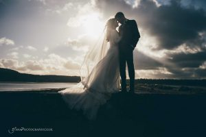 winter wedding portraits North Wales
